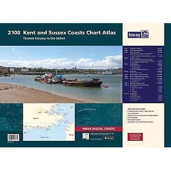 2100 Chart Atlas - Kent and Sussex Coasts by Imray - 9781846239731 Book