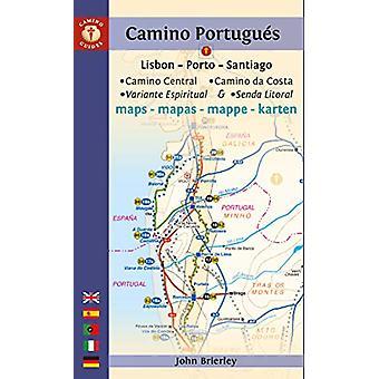 Camino Portugues Maps - Lisbon - Porto - Santiago / Camino Central - C