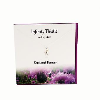 Infinity Thistle Pendant Card by The Silver Studio