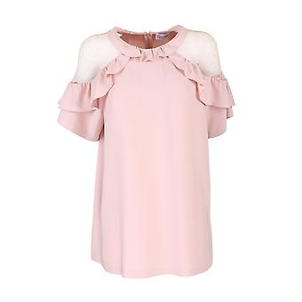 Red Valentino Tr3aaa954s6r13 Women's Pink Cotton Shirt