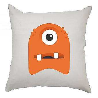 Monster Cushion Cover 40cm x 40cm - One Eyed Orange Monster