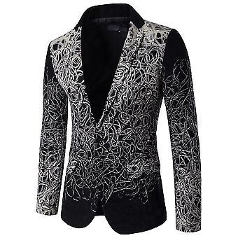 Cloudstyle Men's Blazer Floral Slim fit Casual Suit Jacket
