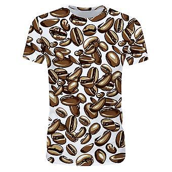 Allthemen 3D Kahvipapu tulosta lyhythihainen t-paita miehille