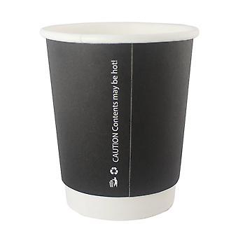 GoPak Black 8oz Double Wall Cups