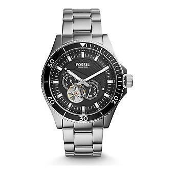 Fossil ME3090 Wakefield Black Dial Silver Stainless Steel Automatic Unisex Watch