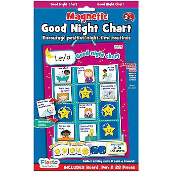Fiesta Crafts Magnetic Good Night Chart