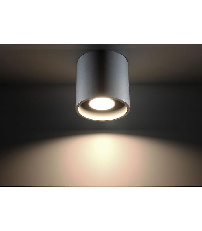 Orbis Ceiling Light Gray Aluminum 1 Bulb