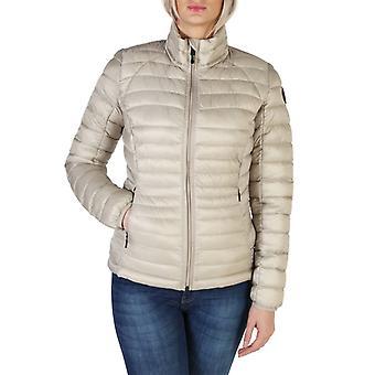 Woman polyester long bomber jacket coat n14391