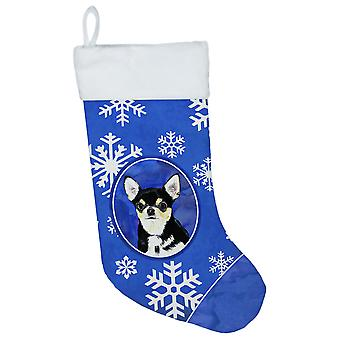 Carolines Treasures  SC9399-CS Chihuahua Winter Snowflakes Christmas Stocking SC