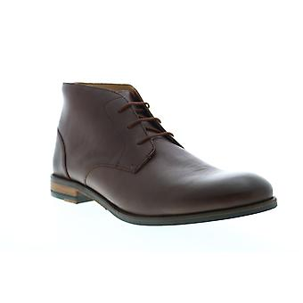 Clarks Flow Top  Mens Brown Leather Lace Up Chukkas Boots