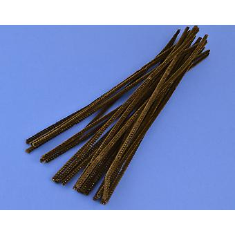 25 Brown 6mm Pipe Cleaners Perfect for Reindeer Antlers | Chenille Stems
