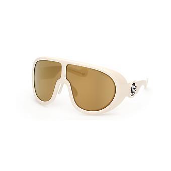 Moncler ML 0147 26G Crystal/Brown Mirror Glasses