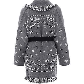 Alanui Lwbh009e20kni0030585 Women's Grey Cashmere Cardigan