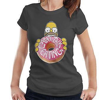 The Simpsons Cant Talk Eating Women's T-Shirt