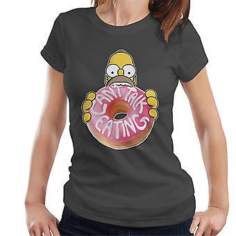 Den Simpsons cant Talk spise kvinders T-shirt