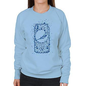 Pepsi Blue Splash kunnen vrouwen Sweatshirt