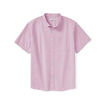 Essentials Men's Big & Tall Short-Sleeve Pocket Oxford Shirt fit by DX...