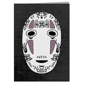 No Face Sugar Skull Studio Ghibli Spirited Away Greeting Card