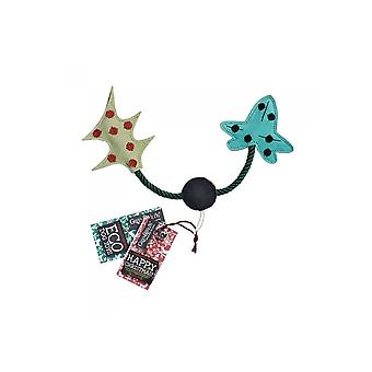 Green & Wild Holly & Ivy -  Eco Dog Toy Jute & Suede Green & Wild