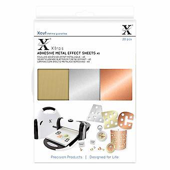 Xcut Xtra A5 klæbende Metal virkning plader (20pcs) (XCU 174409)