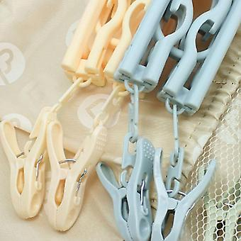 Portable Anti Slip Folding Clothes Hanger For Traveling - Multifunctional Non Slip Drying Racks With Clips