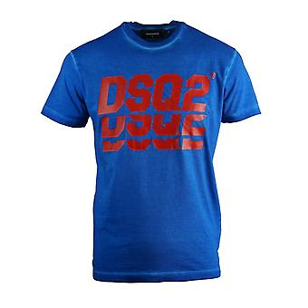 Dsquared2 Lagdelt logo Cool Fit Blå T-shirt