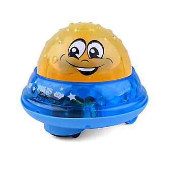 Baby shower toys and games, induction water spray toys and space UFO toys, without batteries, music and lights
