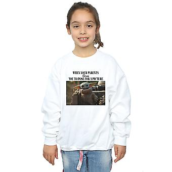 Star Wars Girls The Mandalorian Force Picture Sweatshirt