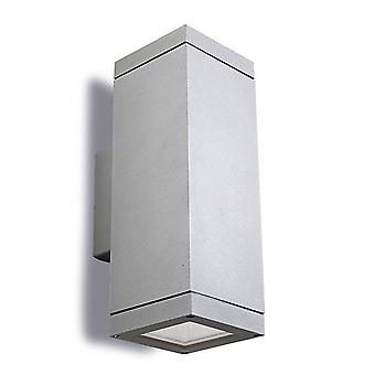 Leds-C4 Afrodita E27 - 2 Lys udendørs op ad væg lys grå IP65