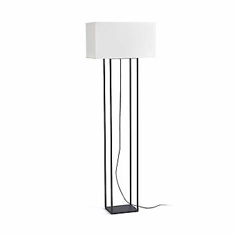 Faro Vesper - 2 Light Floor Lamp Brown med Beige Shade, E27