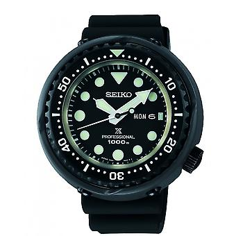 Seiko Watches S23631j1 Prospex Tuna Black Silicone Professional Diver's Men's Watch