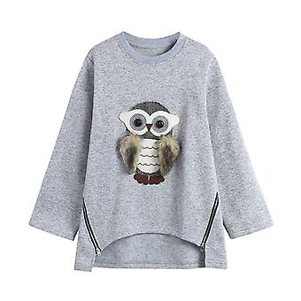 Toddler Baby Boys / Girls Long Sleeve Cartoon Owl Print Tops Hoodie Clothes
