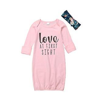 Vêtements de nuit en coton nouveau-né Baby Cotton Outfit Set Sleepwear