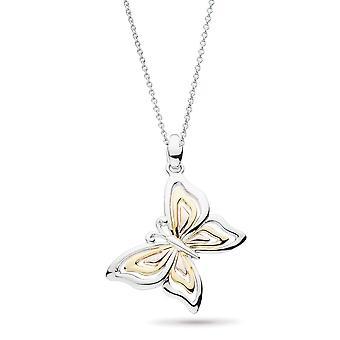 "Kit Heath Blossom Flyte Butterfly Tri Colour 18"" Necklace 90351GRG"