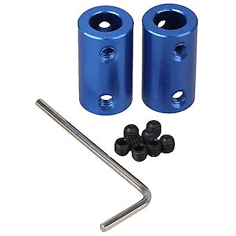 2 x Shaft Motor Rigid Solid Coupling Coupler With M4 Screws & Spanner 8mm-8mm
