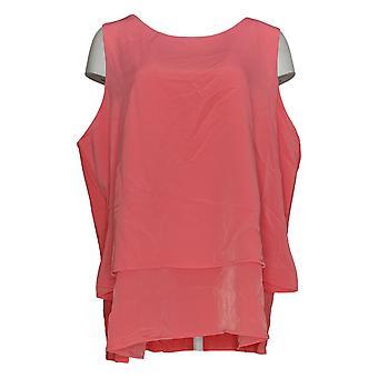 DG2 di Diane Gilman Women's Plus Top Pink Tank Sleeveless Scoop 712-917