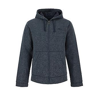 Wilton Full Zip Lined Grid Fleece sudadera con capucha Navy