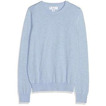MERAKI Women's Cotton Crew Neck Sweater, (Valtamerensininen), EU L (US 10)
