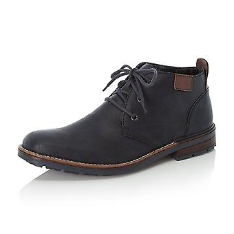 Rieker B1340-14 Derby Men's Winter Fashion Lace Up Boots In Navy