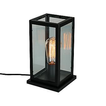 Italux Laverno - Industrie und Retro Tischleuchte schwarz Matt 1 Licht, E27