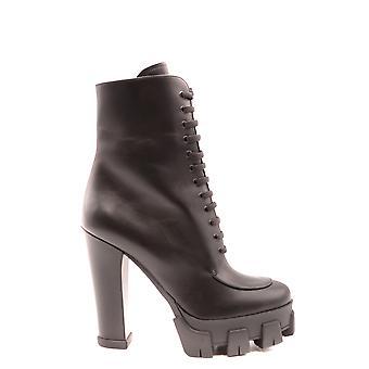 Prada Ezbc021061 Women's Black Leather Ankle Boots