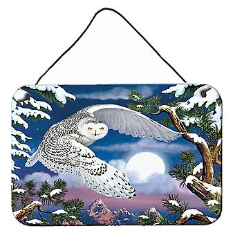 Carolines Treasures PRS4030DS812 Luminen pöllö seinä tai oven ripustus tulosteet