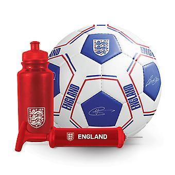 Engeland Voetbal Voetbal Signature Ball Bottle Pump Gift Set 500ml