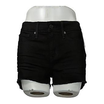 DENIZEN from Levi's Women's Jr Jeans Juniors' Low Rise Shortie Black