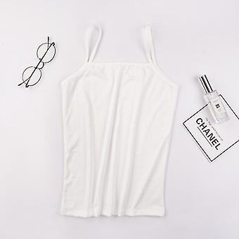 Summer Sexy Camisoles Women Crop Top Sleeveless Shirt Sexy Slim Lady Padded