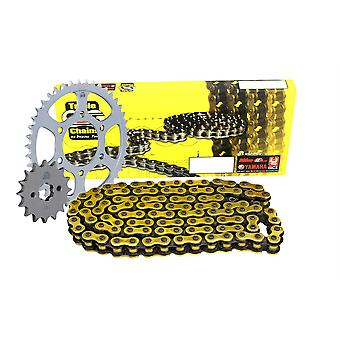 Triple S 525 O-Ring Chain and Sprocket Kit Gold Honda CBF600 N S C-ABS 2008-10