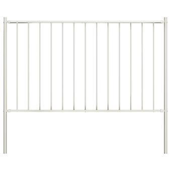 vidaXL حقل السياج مع مسحوق آخر المغلفة الصلب 1,7x0,75m الأبيض