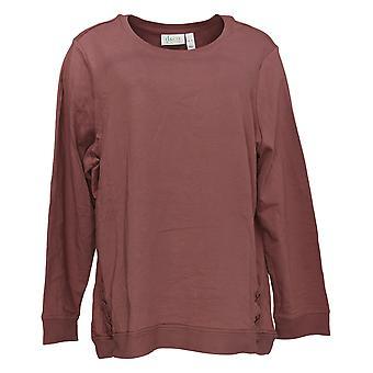 الدنيم وشركاه المرأة & apos&ق قميص فرنسي تيري لونغ Slv Grommets الوردي A347325
