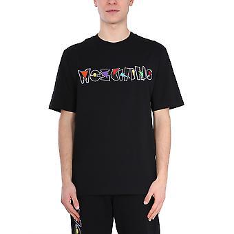 Moschino 071620401555 Heren's Zwart Katoen T-shirt
