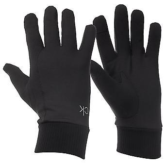 Calvin Klein Męskie 2021 Single CK Print Ciepłe zimowe rękawice do biegania